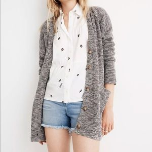 Madewell Cardigan Cozy Button Down Gray